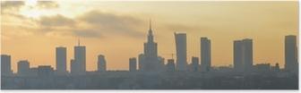 Poster Varsavia tramonto panorama