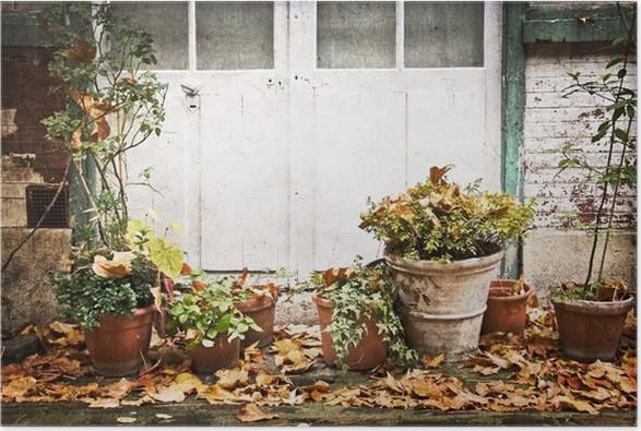 Poster Vasi da fiori, terrazzo rustico • Pixers® - Viviamo per il ...