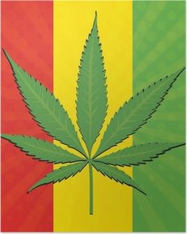 Poster Vector foglia di cannabis