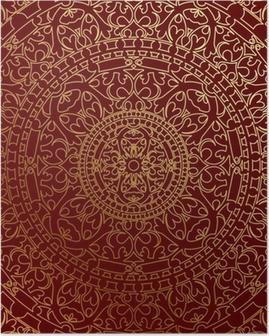 Poster Vector orientalischen blauen Hintergrund mit Goldverzierung