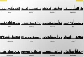 Poster Vector Silhouetten von Deutschland