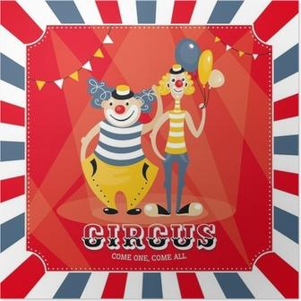 Poster Vektor-Karte mit Clowns