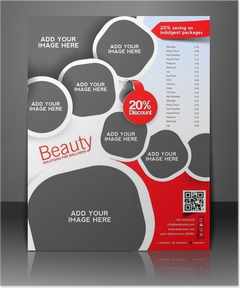 Poster Vektor-Salon Broschüre, Flyer, Magazin-Cover • Pixers® - Wir ...