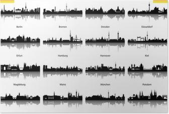 Poster Vektor Silhouetten Deutschland abstrakt
