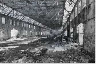 Poster Verlassene Fabrik Halle