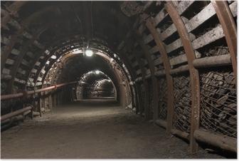 Poster Verstärkte Tunnel in Kohlebergwerk