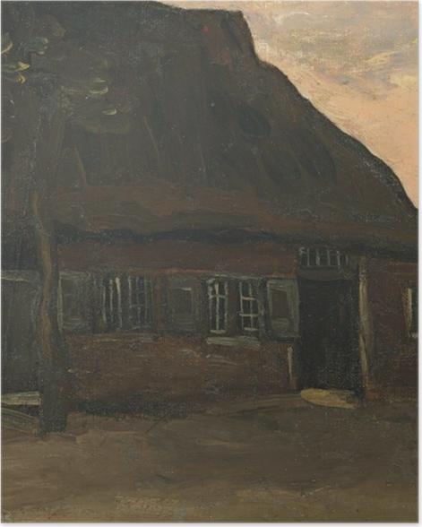 Poster Vincent van Gogh - Bauernhaus in Nuenen - Reproductions
