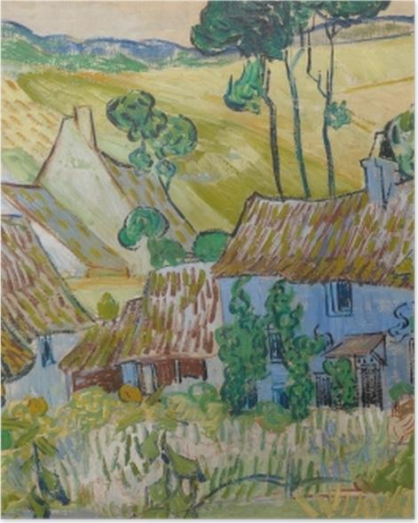 Poster Vincent van Gogh - Bauernhöfe bei Auvers - Reproductions