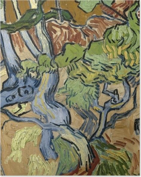 Poster Vincent van Gogh - Baumwurzeln - Reproductions