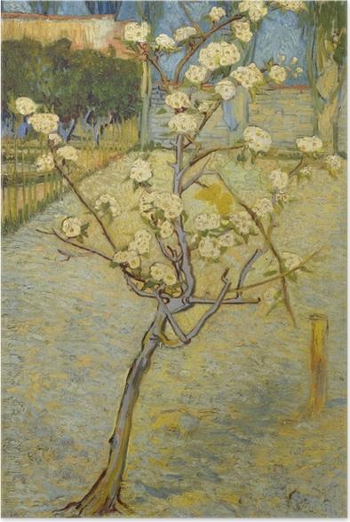 Poster Vincent van Gogh - Blühender Pfirsichbaum - Reproductions