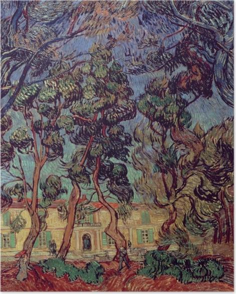 Poster Vincent van Gogh - Das Hospital in Saint-Rémy - Reproductions