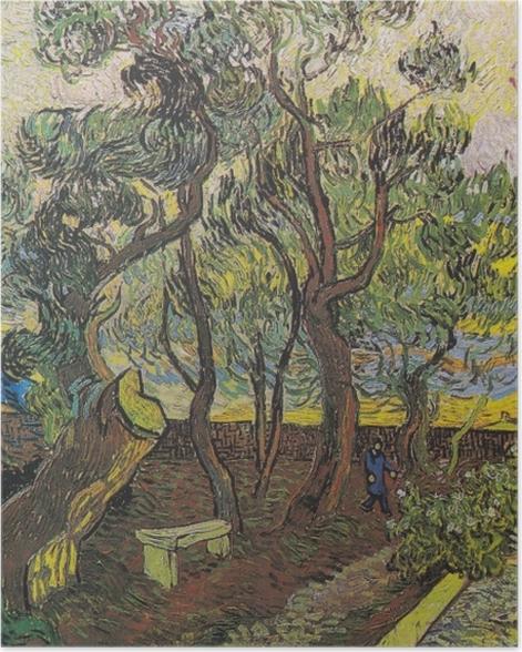 Poster Vincent van Gogh - Der Garten des Hospitals Saint-Paul - Reproductions