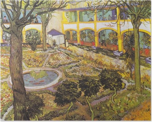 Poster Vincent van Gogh - Der Garten im Hospital in Arles - Reproductions