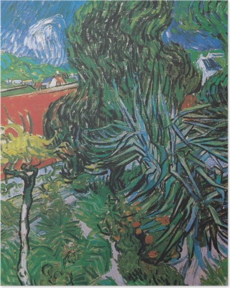 Poster Vincent van Gogh - Der Garten von Dr. Gachet in Auvers - Reproductions