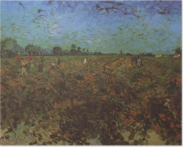 Poster Vincent van Gogh - Der grüne Weinberg - Reproductions