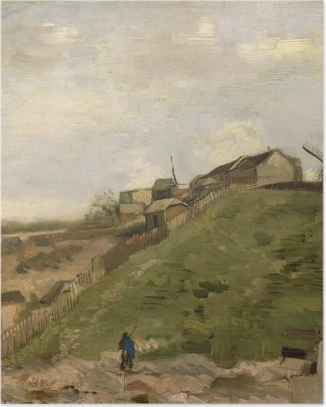 Poster Vincent van Gogh - Der Hügel von Montmartre mit Steinbruch - Reproductions