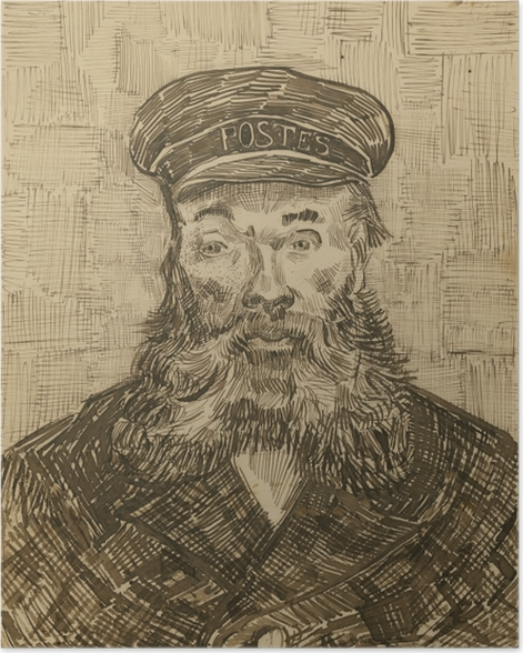 Poster Vincent van Gogh - Der Postmeister Joseph Roulin - Reproductions