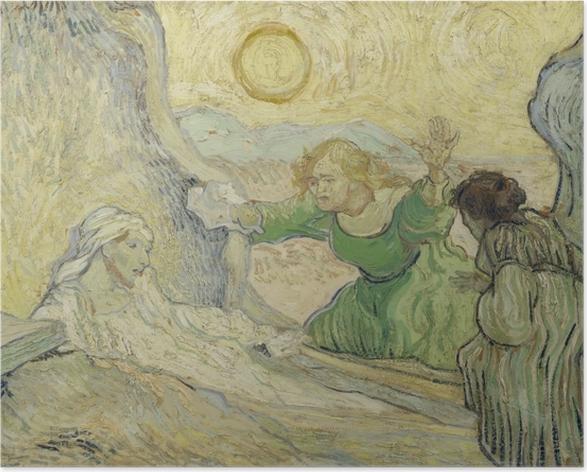 Poster Vincent van Gogh - Die Auferweckung des Lazarus - Reproductions
