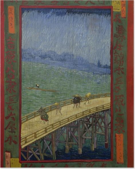 Poster Vincent van Gogh - Die Brücke im Regen - Reproductions