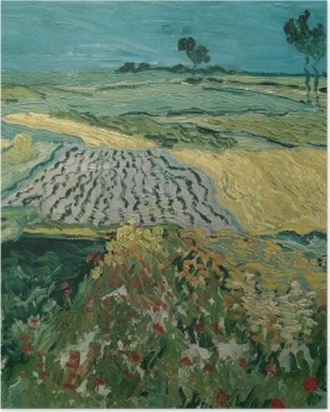 Poster Vincent van Gogh - Die Ebene von Auvers - Reproductions