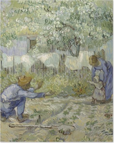 Poster Vincent van Gogh - Die ersten Schritte - Reproductions