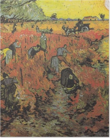 Poster Vincent van Gogh - Die roten Weinberge von Arles - Reproductions