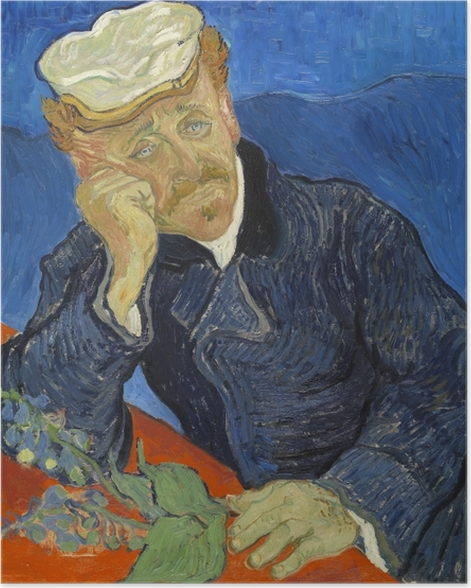 Poster Vincent van Gogh - Dr. Paul Gachet - Reproductions