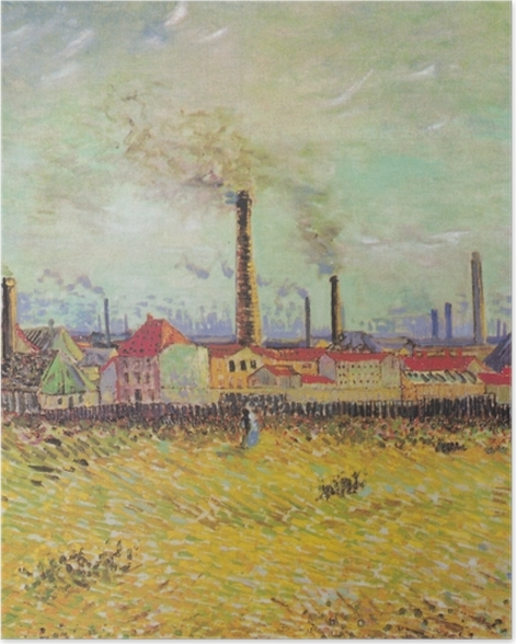 Poster Vincent van Gogh - Fabriken in Asnières - Reproductions