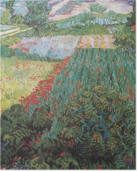 Poster Vincent van Gogh - Feld mit Mohnblumen - Reproductions