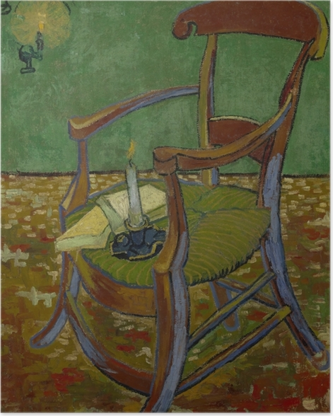 Poster Vincent van Gogh - Gauguins Stuhl - Reproductions