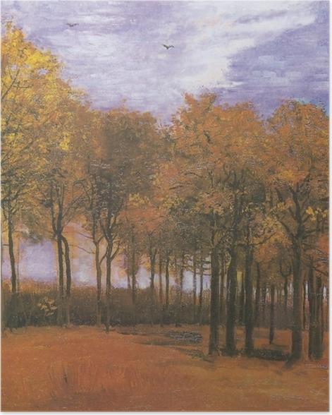 Poster Vincent van Gogh - Herbstlandschaft - Reproductions