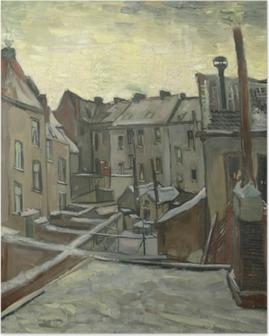Poster Vincent van Gogh - Hinterhöfe der alten Häuser in Antwerpen