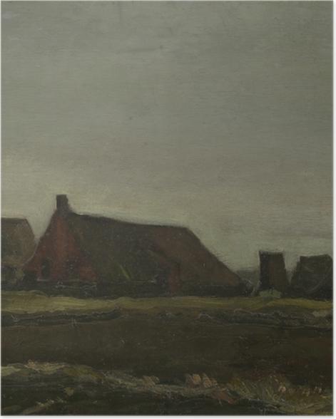 Poster Vincent van Gogh - Hütten - Reproductions