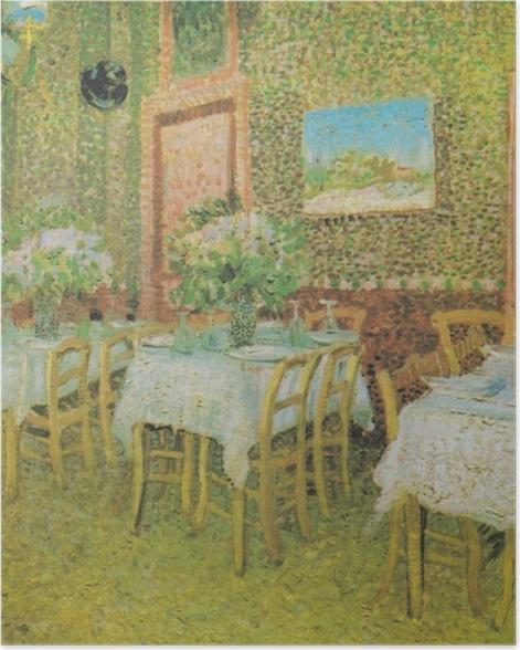 Poster Vincent van Gogh - Innenraum eines Restaurants - Reproductions