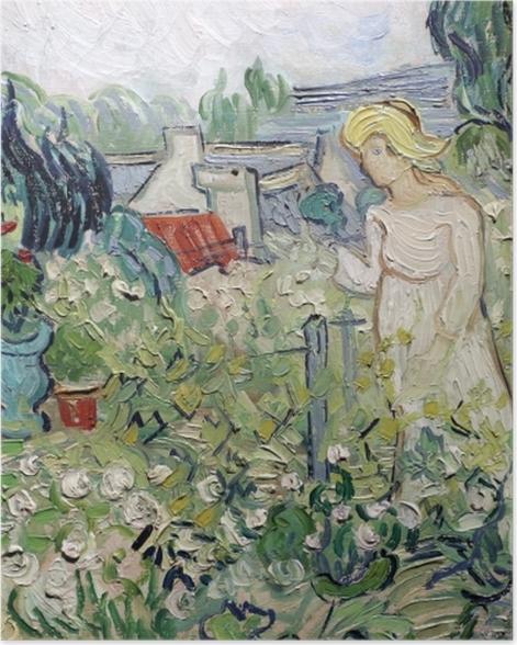 Poster Vincent van Gogh - Mademoiselle Gachet in ihrem Garten in Auvers - Reproductions