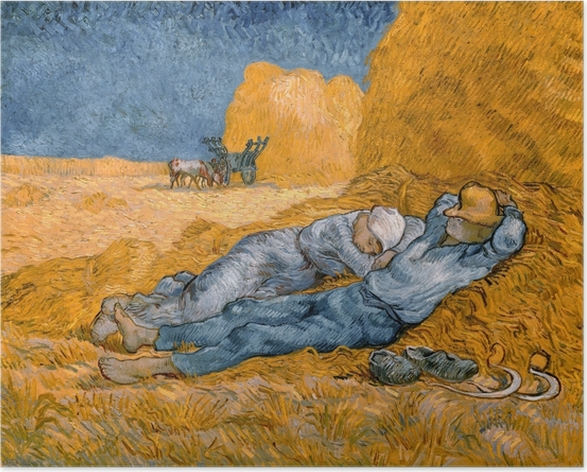 Poster Vincent van Gogh - Mittagsruhe (nach Millet) - Reproductions