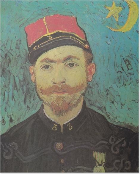 Poster Vincent van Gogh - Ritratto di Milliet - Reproductions