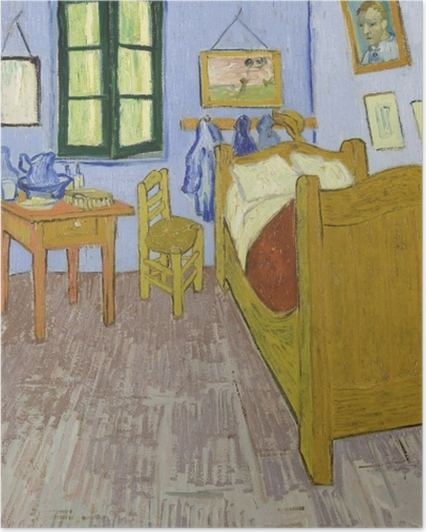 Poster Vincent van Gogh - Schlafzimmer in Arles - Reproductions