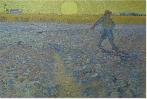 Poster Vincent van Gogh - Seminatore al tramonto - Reproductions