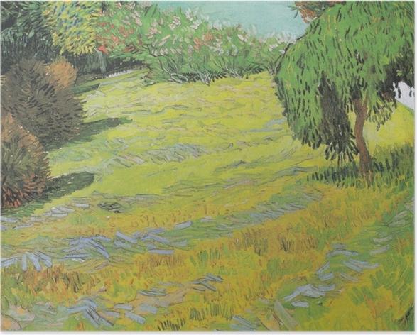 Poster Vincent van Gogh - Soleggiato prato in un parco pubblico - Reproductions