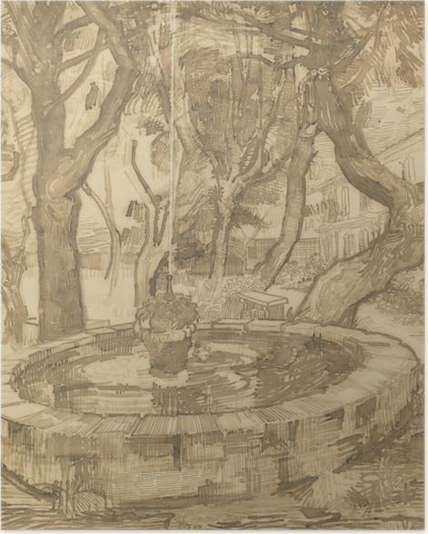 Poster Vincent van Gogh - Springbrunnen im Garten der Heilanstalt - Reproductions
