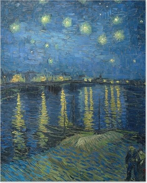 Poster Vincent van Gogh - Sternennacht über der Rhone - Reproductions