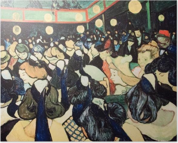 Poster Vincent van Gogh - Tanzsaal in Arles - Reproductions