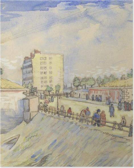 Poster Vincent van Gogh - Tor in den Pariser Stadtmauern - Reproductions