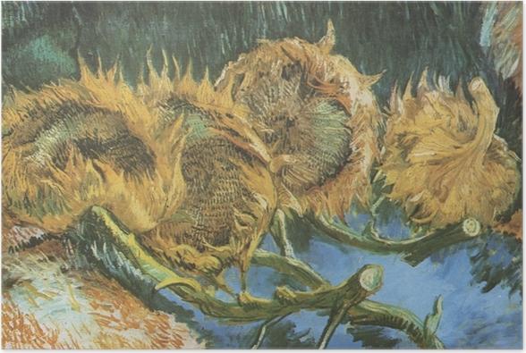 Poster Vincent Van Gogh Vier Geschnittene Sonnenblumen Pixers