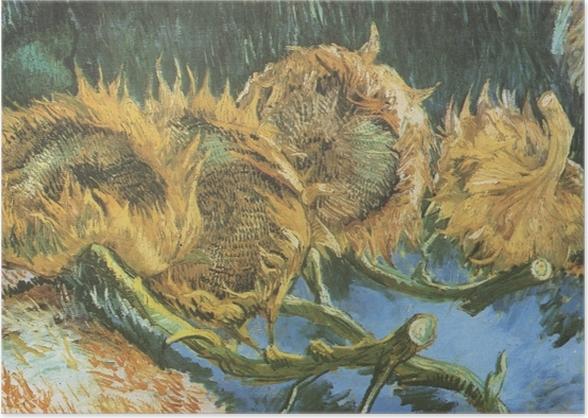 Poster Vincent van Gogh - Vier geschnittene Sonnenblumen - Reproductions