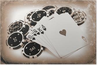 Poster Vintage-Poker-Konzept