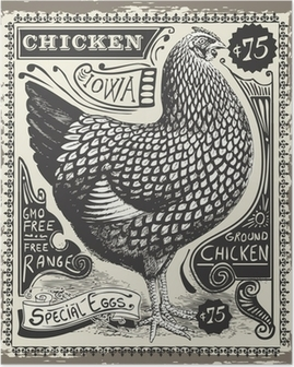 Poster Vintage Poultry and Eggs Advertising Page