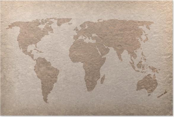Weltkarte Poster Vintage poster vintage weltkarte papier handwerk • pixers® - wir leben, um
