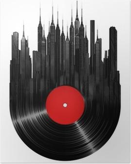 Poster Vinyl Stadt